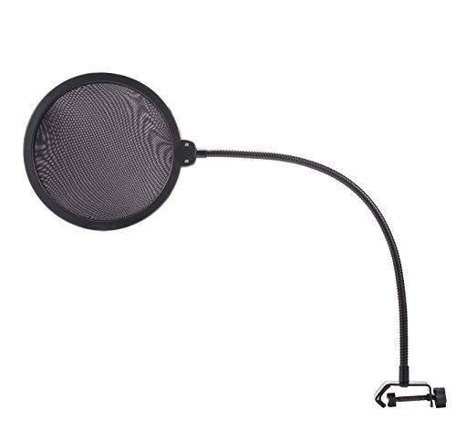 New Double Layer Studio Microphone Wind Screen Mask Gooseneck Shield Pop (Best Generic Pop Filters)