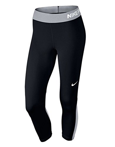 Nike Women's Pro Training Capri (X-LARGE, Black/Cool Grey)
