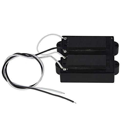 Noir SODIAL Pb Micro-Basse Humbucker Micro pour 4 Cordes Partie Basse de Guitare Basse de Rechange