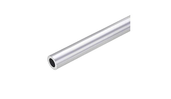 sourcing map 6063 Aluminio Redondo Tubo 28mm OD 25mm Interior Di/ámetro300mm Longitud Sin Costura Recto Tubo