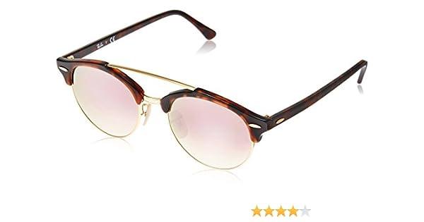 Ray-Ban 0Rb4346 990/7O, Gafas de sol para Hombre, Shiny Red Havana 51