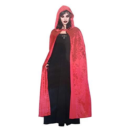 LEMON TREE SL Capa Roja Adulto para Halloween con Capucha ...