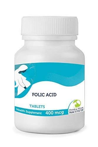 Ácido Fólico 400Mcg Vitamina B9 Embarazo 30/60/90/120/180/