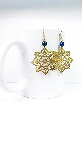 Dangling Brass Earrings-Handmade Earrings ()