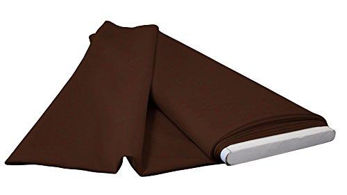 oplin Flat Fold Fabric, 10 yd, Brown ()