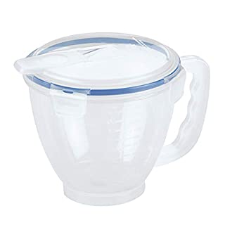LOCK & LOCK Easy Essentials Food Storage lids/Airtight containers, BPA Free, Measuring Cup - 4.2 cup, Clear