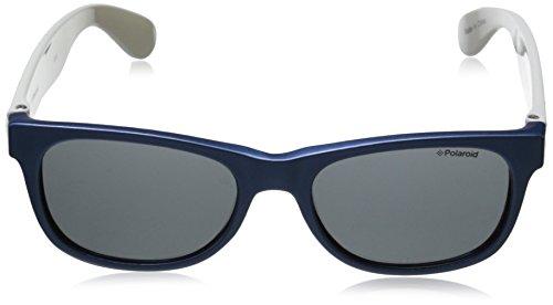 de Enfant P0300 Bleu Rectangulaire soleil White Blute Lunette Grey Polaroid gqFp77