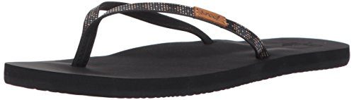 Reef Women's Slim Ginger Beads Sandal, Black, 9 M - Womens Ginger Reef
