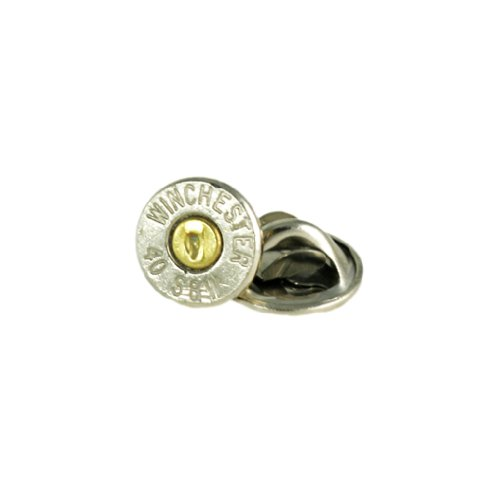 (Winchester 40 S&W Nickel Bullet Tie Tac-Hat Pin)