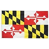Maryland 1904 State Indoor Outdoor Dyed Nylon Boat Flag Grommets 12