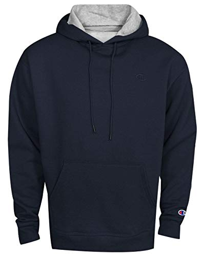 - Champion Men's Powerblend Pullover Hoodie, Navy, Small