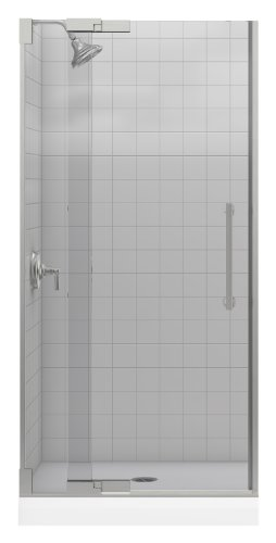- Kohler K-705701-L-NX Purist Heavy Glass Pivot Shower Door, 33-1/4