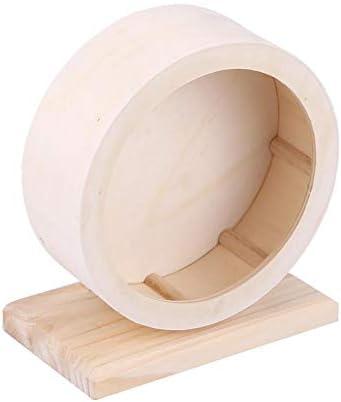 TOPINCN ハムスター玩具 ハムスターの巣 小型 ペット木造住宅 ホイールランニング レストネスト (S)