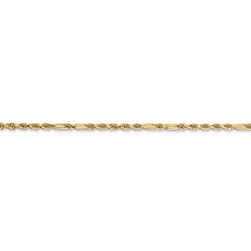 ICE CARATS 14k Yellow Gold 1.8mm Milano Link Rope Chain Anklet Ankle Beach Bracelet Fine Jewelry Gift Set For Women Heart by ICE CARATS (Image #6)