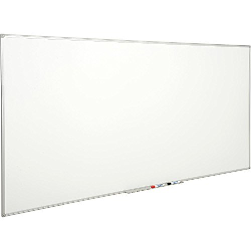 Double Sided Dry Erase Whiteboard, Melamine, 96 x 48 by Bi-Silque Visual Communication Products Inc