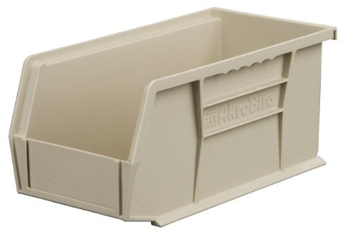 (Akro-Mils 30224 Plastic Storage Stacking Hanging Akro Bin, 11-Inch by 4-Inch by 4-Inch, Stone, Case of 12)