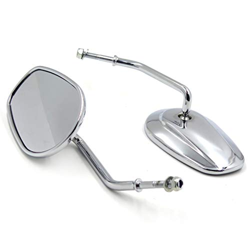 HTTMT MT398- New Chrome Rearview Mirrors Compatible with Harley Davidson FLSTC FXDB DYNA FXDF FLSTF 8mm