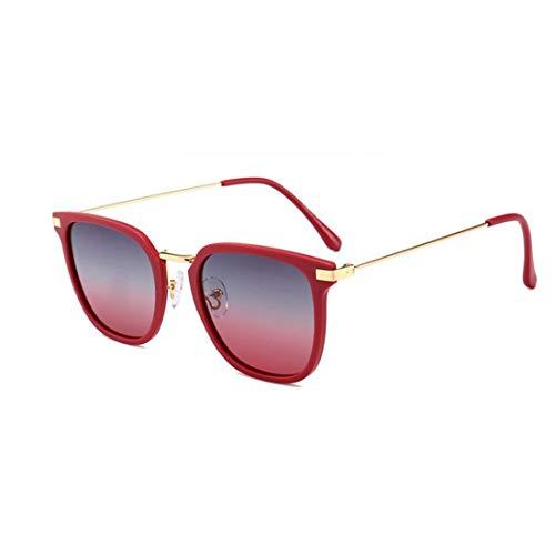 Soleil Femmes Pour Lunettes Cool Et Red Hommes Polaroid Igspfbjn color Red De YE6w7