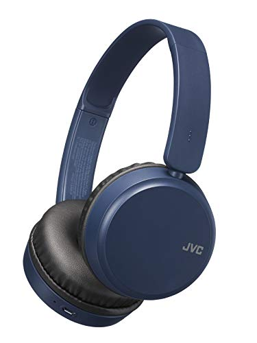 JVC Deep Bass Wireless Headphones, Bluetooth 4.1, Bass Boost Function, Voice Assistant Compatible, 17 Hour Battery Life - HAS35BTA(Blue)