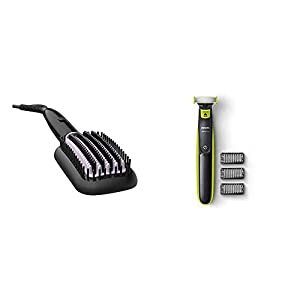 Philips BHH880/10 Heated Straightening Brush with Thermoprotect Technology (Black)
