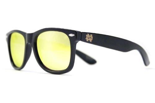 NCAA Notre Dame Fighting Irish ND-1 Blue/Gold Dark Frame Lens Sunglasses, One Size, - Notre Dame Sunglasses