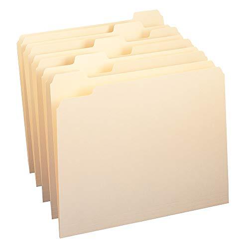/5-Cut Tab, Assorted Position, Letter Size, Manila, 100 Per Box (10350) ()