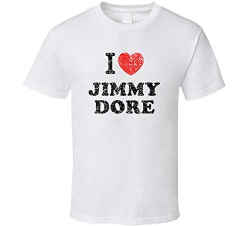 Jimmy Dore I Love Heart Comedian Comedy Worn Look Cool Fan T Shirt M White
