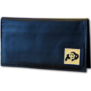 Siskiyou NCAA Colorado Buffaloes Leather Checkbook Cover - Colorado Buffaloes Mens Leather