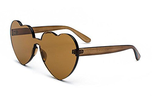 Sunglasses Integrated Glasses Non Fashion Eye Shaped Classic Heart polarized Cat Beige Cw0486xqx