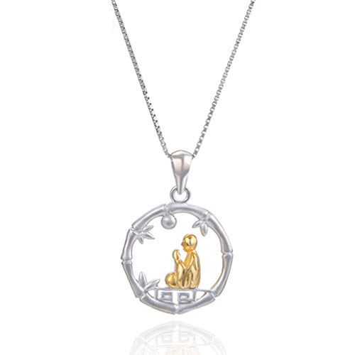 WANZIJING 925 Sterling Silver Necklace for Women, Charm Buddha Pendant Praying Meditation Necklace for Yoga Jewelry,16''