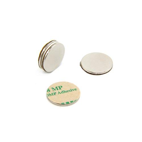 Magnet Expert® Adhesive 20mm dia x 1.5mm N42 Neodymium Magnet - 2kg Pull ( South ) ( Pack of 4 ) Magnet Expert® F2015SA-4