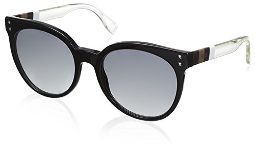 (Fendi Women's 0083/S Sunglasses, Black/White/Crystal)