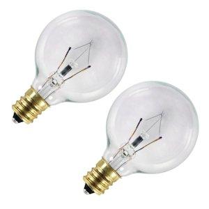 G12-1/2 Bulb 20w Clr 2pk