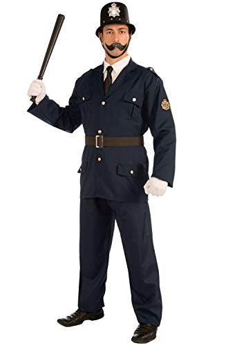 Forum Novelties Men's British Bobbie Costume Police Uniform, Blue, X-Large