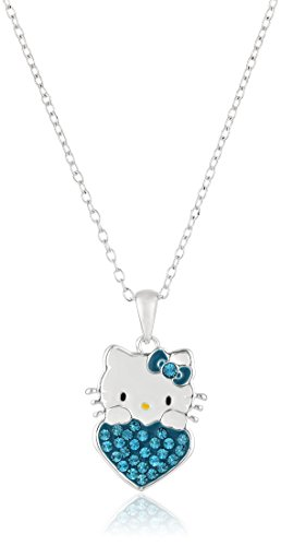 - Hello Kitty Girls December Crystal Birthstone Heart Pendant Necklace, 18