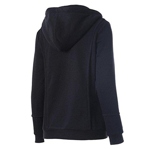 Ouneed® Noir Sweat Shirt a Capuche