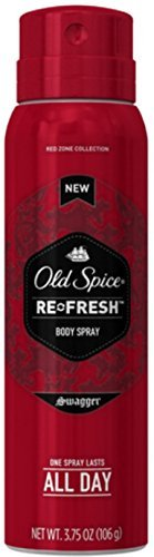 Old Spice Re-Fresh Body Spray, Swagger 3.75 oz (Pack of 2)