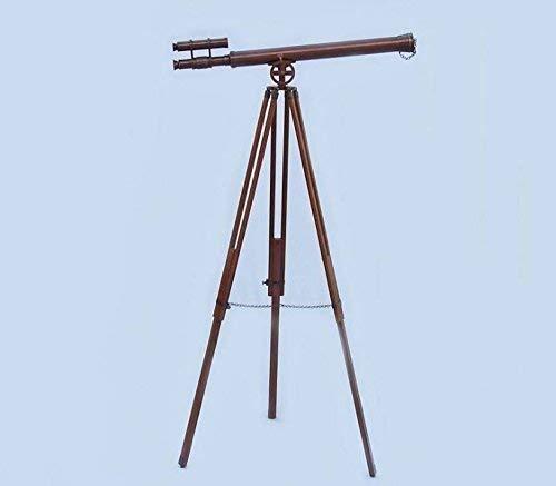 NAUTICALMART Floor Standing Oil-Rubbed Bronze Griffith Astro Telescope 64''- Telescope with Free Gold Basket by NAUTICALMART (Image #4)
