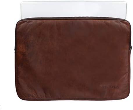 WerKens Genuine Leather Laptop Sleeve Bags 13-13.3 Inch Handmade Brown