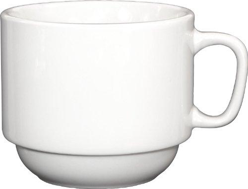 ITI-DO-23 Porcelain Dover 7-Ounce Stackable Cup, 36-Piece, White