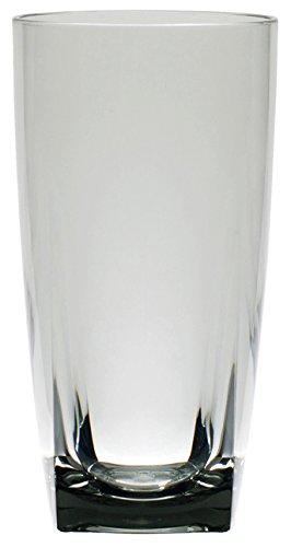 QG 6 pc Clear Smoke Light Grey Acrylic 26 oz Iced Tea Cup w/ Heavy Square Base Plastic Tumbler Set by QG (Image #3)
