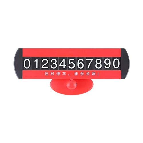 JIAIIO Universal Car Temporary Parking Card Suckers Night Phone Number Card Plate for Car Stop Parking Sign Notice Number Car Styling