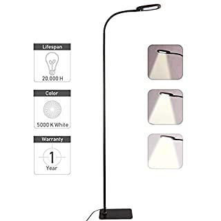 Twinkle Star Gooseneck Floor Lamp Dimmable LED Standing Lamp, Reading Lamp for Living Room