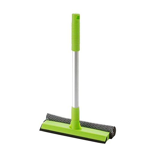- Kaimao Multi-function Shower Squeegee / Duplex Glass Brush / Window Wiper with Thick Aluminum Handle for Bathroom Mirror Window Glass Cleaning(Green)