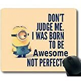 Popular Mouse Pad with minions Non-Slip Neoprene Rubber Standard Size 9 Inch(220mm) X 7 Inch(180mm) X 1/8 Inch(3mm) Mousepads from PPLR AR Mouse Pad
