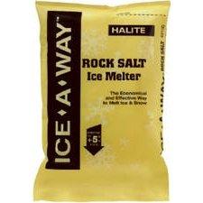 Ice-a-way 49200 Halite Rock Salt Ice Melter, 25 Lb