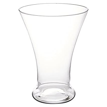 Amazon Easygift Products Elegant Cone Shaped Glass Vase Table