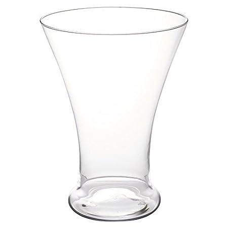Elegant Cone Shaped Glass Vase Table Centrepiece Decorative Flower
