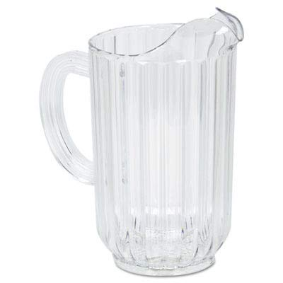 (Rubbermaid Rcp3335Cle Bouncer Plastic Pitcher 48 Oz Clear Polycarbonate)