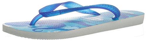 Havaianas Mens Conservation International Sandal Flip Flop  White Blue Star  41 Br 9 10 M Us